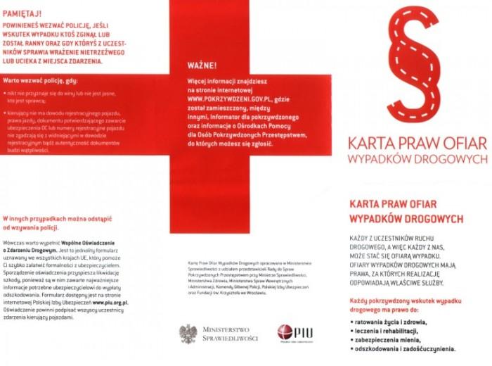 Karta Praw Ofiar Wypadków Drogowych